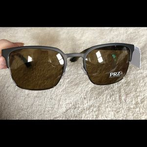 Prada black sunglasses with brown lenses